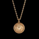 Colar Versace Sátiro Semijoia Ouro