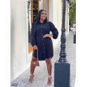 Camisão Chemise Vestido Feminino Preto