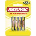 Pilha AAA (Palito) RAYOVAC - Cartela c/4