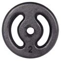 Anilha de Ferro Pintada 2kg Vazada
