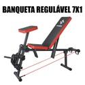 Banqueta Livre Regulável Musculação 7x1