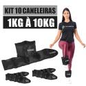 Kit Caneleira de Peso 1kg a 10kg Academia e Ginastica