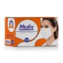 Máscara Descartável Tripla Medix Branca c/ 50