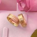 Aliança de ouro 18k 6mm 7 gramas com Diamantes Modelo Primavera