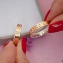 Aliança de Ouro 18K e Prata 4mm 8 gramas Modelo Malta