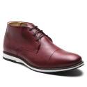 Sapato Brogue Amsterdã Cano Alto Raphaello Footwear Couro Legítimo Bordo