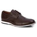 Sapato Masculino Derby em Couro Legítimo Café