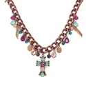COD13025 MAXI COLAR VINTAGE CRUCIFIXO CANDY COLORS