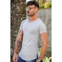 T-shirt Long Basic grey