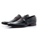 Sapato Masculino Solado De Couro bigi365 Preto