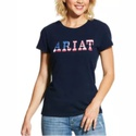 T-shirt Feminina Ariat Real Ariat Stars 10030666
