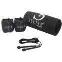 kit de Corda de Pular com Peso Caneleira Tornozeleira de 6 Kg com Colchonete Academia Yoga Fitness - Selten