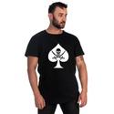 Camiseta Masculina Long Line Caveira Preta -Selten