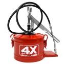 Bomba Manual para Graxa 4kg HYDRONLUBZ Vermelho HL-4 8487