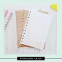 Kit Caderneta Pautado (forrado e furado)