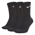 Kit 3 Pares De Meia Nike Cano Alto Everyday Cushioned Crew - Preto