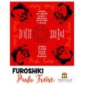FUROSHIKI FREIRE - VERMELHO- 70x70cm