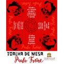 Toalha de Mesa Freire 100 Anos - Vermelha
