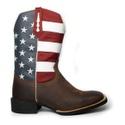 Bota Texana Masculina Estados Unidos em Couro Bico Quadrado TexasKing