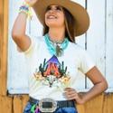 T-Shirt Feminina Power Country Off White