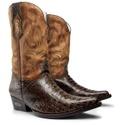 Bota Texana Western Masculina De Bico Fino em Couro