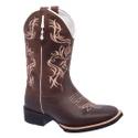 Bota Texana Feminina Marrom/Bege Couro TexasKing