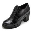 Bota Coturno Feminino Top Franca Shoes Ankle Boot Verniz Preto