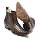 Botina Country Top Franca Shoes em Couro Latego Café