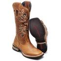 Bota Country Top Franca Shoes em Couro Fossil Mostarda