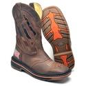 Bota Country Top Franca Shoes em Couro Fossil