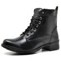 Bota Coturno Country Montaria Feminina Ziper Top Franca Shoes Preto