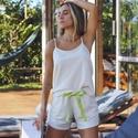 Pijama Homewear Off White linho com algodão