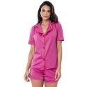 Pijama Homewear Colors Short e Camisa Pink/Laranja