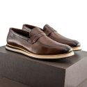 Sapato Casual Loafer Durhan Faway Café