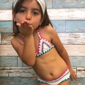Biquíni Infantil Boho Beach Branco