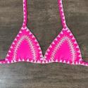 Top Biquíni Boho Beach Rosa Neon