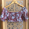 Cropped Bia Floral Areia