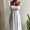 Vestido Ciganinha Curto Off White