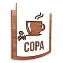 Placa De Sinalização | Copa - MDF 15x13cm