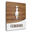 Placa De Sinalização | Feminino - MDF 18x14cm