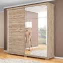 Guarda Roupa Casal 2 Portas Com Espelho Las Vegas Cedro - Robel Móveis