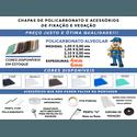 Kit 1 Chapa de Policarbonato Alveolar 2,10x6,00 4 Milímetros e Acessórios para Instalação