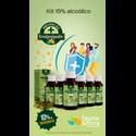 Kit com 06UN Verde Própolis Fauna & Flora 15% 30ml Alcoólico