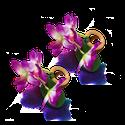 Porta Guardanapo de mini orquídea fúcsia