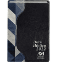 Diário Bíblico 2022 - Luxo - Azul Marinho