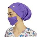 Touca Cirúrgica e Máscara Lilás