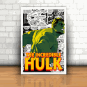 Placa Decorativa - Hulk Quadrinhos