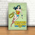 Placa Decorativa - Mulher Maravilha Quadrinhos