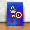 Placa Decorativa - Capitão América Kids