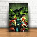 Placa Decorativa - Hulk e Amigos